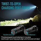 Olight® X7R Marauder aufladbar LED Taschenlampe 12000 Lumen mit 3 X Cree XHP70 CW LED - inkl. 1 x eingebaute 4 x 3000mAh 18650 Akkus - Ultra hell und kompakt - 5