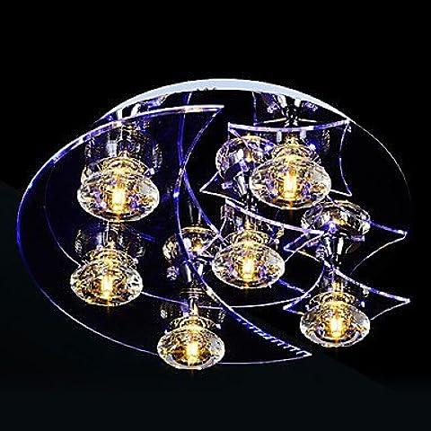 MLA cristal transparente de encastrar LED, Light 3, moda Figura decorativa, diseño de acero inoxidable, mango acrílico, 220-240 V