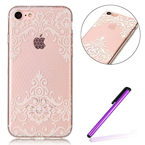 iPhone 7 Case for Girls,iPhone 7 Coque Anti chock Plastic Liquide Coque Bling Flash Etui Case Cover pour iPhone 7 4.7 Pouce,iPhone 7 Coque Transparente,iPhone 7 Coque Bling Diamant Cœur Etui Housse Co R Butterfly Flower TPU 7
