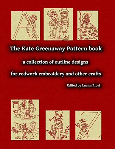 The Kate Greenaway Pattern book: a collection of outline designs for redwork embroidery and other crafts - Redwork-design