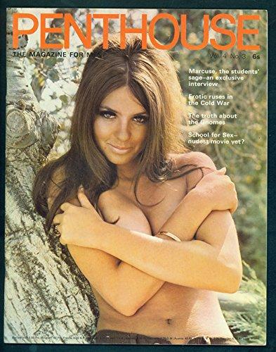 Penthouse Magazine 1969 Vol.4 No.3 The Magazine for Men Publicación de coleccionistas de época Bob Guccione