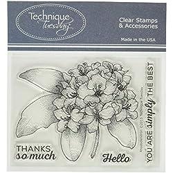 sellos de goma de Technique Tuesday 7,6x 10,2cm, rododendros