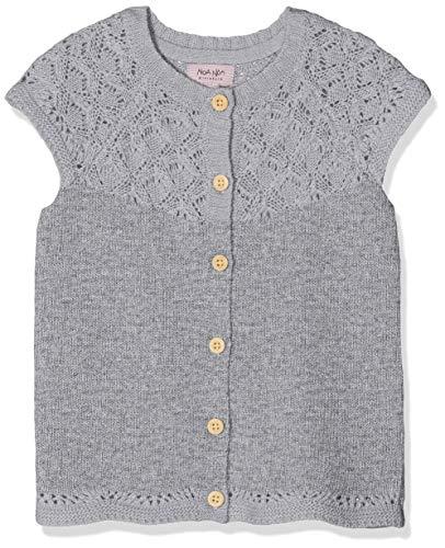Noa Noa miniature Mädchen Weste Baby Wool Knit Grau (Grey Melange 5) 74 (Herstellergröße: 9M)