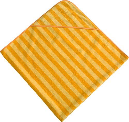 Morgenstern, Kapuzentuch 140x140 cm, gelb/dunkelgelb gestreift, ohne Stickerei, 100 {38e9511dd0d217926f98f0e962d0fb0c176f2e38f603b23b5b5685bbdd54978f} Baumwolle,