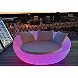 Decolaper Sofa Cama Balinesa RGB Carga Solar/Carga USB