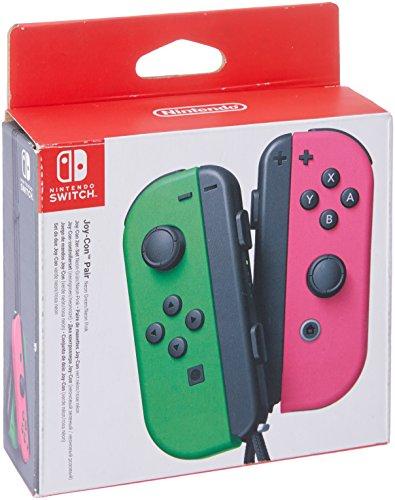 Nintendo - Set De Dos Mandos Joy-Con, Color Verde Neón / Rosa Neón (