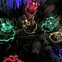 Dax-Hub Alimentate Solari Impermeabili Luci decorazione stringa, 4.8M 20 LED Babbo Natale Alberi di Natale illumina la lampada per decorare la vostra casa, giardino, festa di nozze (5M, 20-Babbo-Natale, Multi-Color) - Led Si Illumina Di Nozze