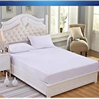 COMFORTNIGHTS WATER PROOF TERRY TOWELLING MATTRESS PROTECTOR SUPER KING 180cms X 200cms by Shellmark