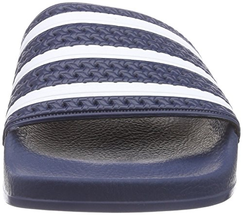 adidas Adilette Unisex-Erwachsene Dusch & Badeschuhe, Blau, 43 EU -