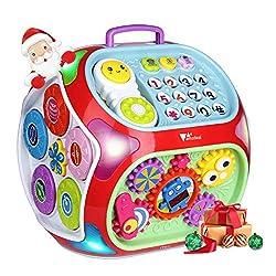 Baby Lernspielzeug, Amzdeal Aktivitätswürfel, 7 in 1 Elektronisches Baby Spielzeug Musikspielzeug für Kinder von 1-4 Jahren, perfektes Weihnachtsgeschenk für Kinder