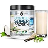 Organic Super Protein - La meilleure poudre de protéines à base de plantes végétaliennes, vanille crémeuse - MCTs biologiques, Omegas, enzymes digestives et superfoods (20 portions)