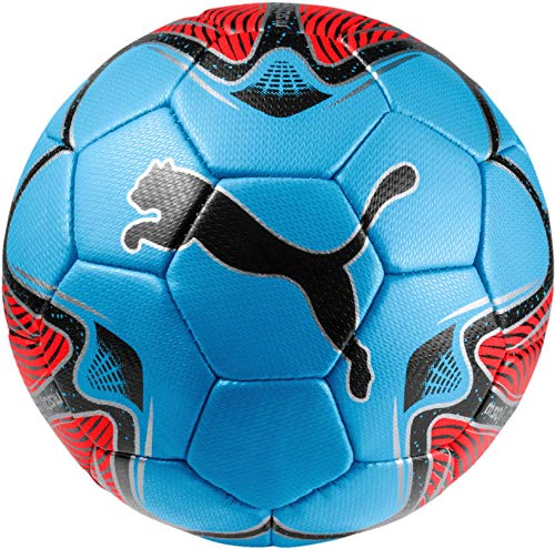 Puma One Star Mini Ball Balón de Fútbol, Unisex niños, Red Blast/Bleu Azur Black
