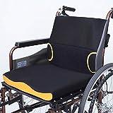 Reduzieren des Rollstuhlsitzkissens, Anti-Dekubitus-Kissen, Ideal für längeres Sitzen, 3D-Stereo-Ventilation, Waschbar,SeatCushion+Cushion