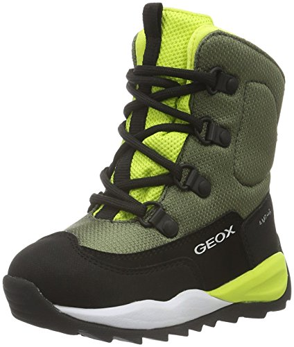 Geox Jungen J Orizont Boy Abx E Schneestiefel, Grün (Military/LIMEC0914), 39 EU (Kinder Military Stiefel)