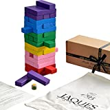 Spiele Tumble Tower - JENA MEHRZWECK 3 IN 1 - Familie Spiel / Bauklötze / Bunt Tumble Tower - Qualität Jaques Building Spiel EIN Spiel Blöcke seit 1795