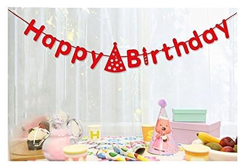 Happy Birthday Paper Banner, DRESHOW Bunting Banner Birthday Photo Booth