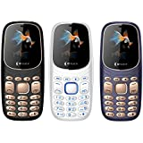 SSKY K7 Pro (Dual SIM, 2.4 Inch QVGA Display, 1050 MAh Battery Combo Pack Of Three Mobile (Black-White-Blue)