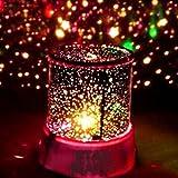 begorey Sternenhimmel Projektor LED Nachtlicht Romantische Stimmung Stern Nachtlicht Lampen Raum Rotierende Nachttischlampe für Kinderzimmer, Party, Schlafzimmer, Hochzeit, Geburtstag, Weihnachten