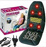 EuroQuality Seidig-gesteppte 5-motorige Vibrations-Massagematte mit & vollem Körper-Massagekissen & Massagematte