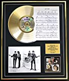 THE BEATLES CD GOLD DISC UND PHOTO UND SONG SHEET DISPLAY/LIMITIERTE AUFLAGE/COA/ALBUM, LET IT BE /SONG SHEET, LET IT BE