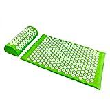 Set per agopressione con borsa a tracolla - Verde 2 pezzi - Tappetino e cuscino massaggio antidolorifico e antistress