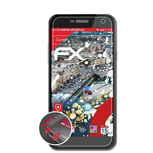 atFolix Schutzfolie passend für WileyFox Spark Folie, entspiegelnde & Flexible FX Bildschirmschutzfolie (3X)