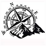 PoeHXtyy Montagne Boussole Autocollant Hors Route Art Vinyl Stickers Autocollants pour Pare-Chocs Voiture Auto fenêtre en Verre