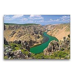 Premium Textil-Leinwand 75 x 50 cm Quer-Format Zrmanja Canyon | Wandbild, HD-Bild auf Keilrahmen, Fertigbild auf hochwertigem Vlies, Leinwanddruck von LianeM