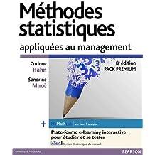 Méthodes statistiques appliquées au management : Pack Premium FR : Livre + eText + MyMathLab | version française - Licence étudiant 12 mois