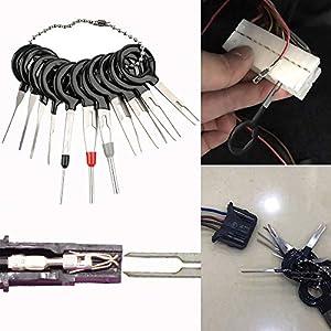 TAOtTAO demontieren Stecker-Nadelentferner reparieren Terminal-Nadelentferner 11 Stücke Auto Draht Terminal Entfernungswerkzeug verdrahtung stecker Pin Extractor Puller Werkzeuge