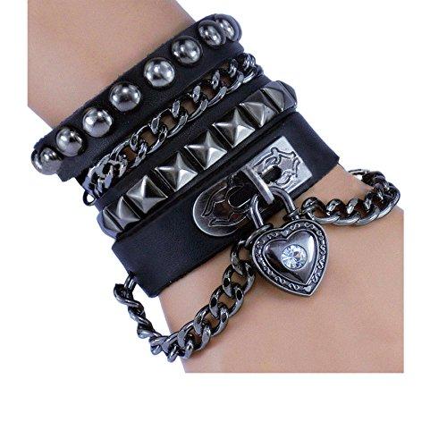stift-armband-punk-rock-multi-kreis-stift-kette-echtleder-creative-wickelarmband-farbe-schwarz