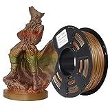 Stronghero3D 3D Print PLA Filament 1.75mm Bronze Multicolores Rainbow Bronze Poids Net 1kg Précision +/- 0.05mm