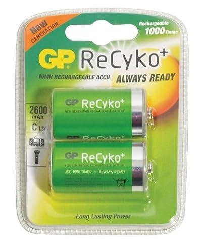 GP ReCyko C Taille 2600mAh Batterie rechargeable Lot de 2