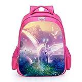 Runhome Unicorn School Student Mochilas, niño y niña Fashion Unicorn Gifts Rainbow Bags, Unicornio Impreso Mochilas Funny Travel Equipaje Casual Daypacks