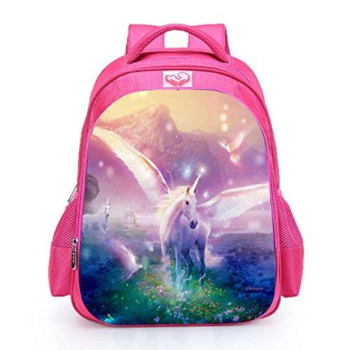 Zaini da Scuola Ufficiale Unicorno di Runhome, Ragazze e Ragazze Moda Unicorno Regali Borse da Rainbow, Unicorn Printed Zaino Funny Travel Bagagli Casual Daypacks