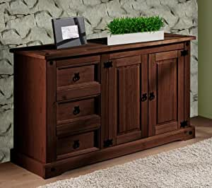 kommode sideboard antik kiefer massiv im landhausstil k che haushalt. Black Bedroom Furniture Sets. Home Design Ideas