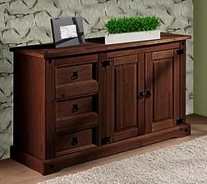 kommode sideboard antik kiefer massiv im landhausstil k che haushalt. Black Bedroom Furniture Sets. Home Design Ideas