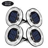 8 LED Luce Solari Giardino Esterno, WZTO 800LM Lampada Solare da Giardino IP65 Impermeabile Wireless Lampade Solari da Giardino per Esterno, Scala, Paesaggio, Strade