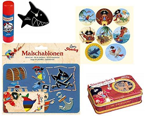 Die Spiegelburg Geschenkset Captn Sharky 5-teilg Zuckertüte, Mittbringel, Schultüte Stempelset,...