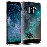 kwmobile Samsung Galaxy A8 (2018) Hülle - Handyhülle für Samsung Galaxy A8 (2018) - Handy Case in Blau Grau Schwarz