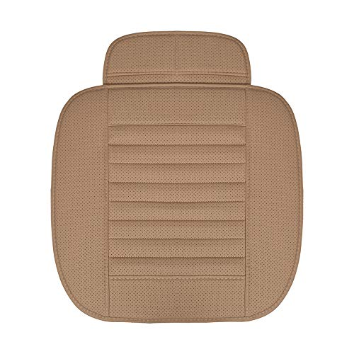 Luxiye, coprisedili universali per Auto, in Fibra di bambù, Traspiranti, Comodi, protettivi per sedili Anteriori dell'Auto, in Pelle Sintet