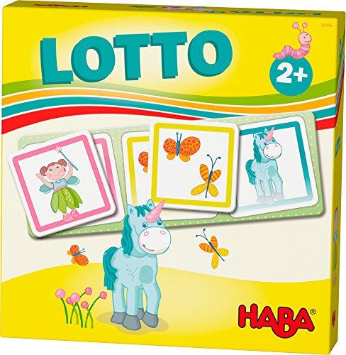 HABA 303766 - HABA-Lieblingsspiele - Lotto Feenland | Lottospiel mit 4 Ablagekarten und 12 extragroßen Lottokarten aus Pappe | Zuordnungsspiel mit bunten Feenland-Motiven | Spielzeug ab 2 jahren