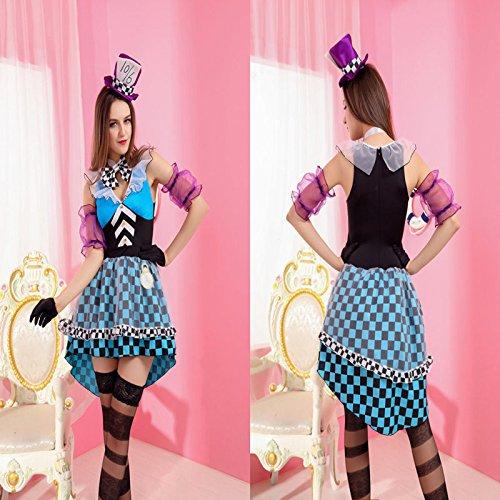 Zauberer Weibliche Kostüm - Gorgeous Mysterious blauen Rock Clown Zauberer schöne Mode Modellierung RPG Bühnenkleidung