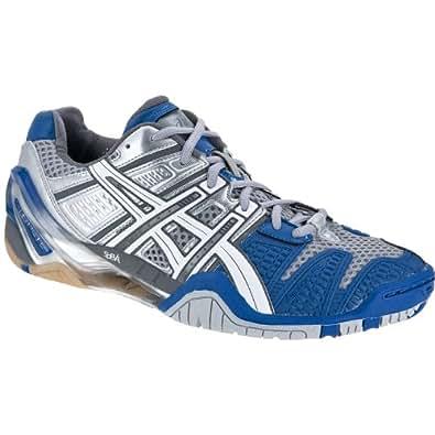 Asics–Chaussures Gel Blast, Taille 13.0US–48.0EU, Couleur Gelb/blanc/noir - - Multicolore - argent/bleu/blanc, 42 EU
