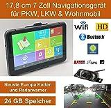 17,8cm Elebest 7 Zoll,Android 6.0 Navigationsgerät,Navigation,WiFi,Radarwarner,Tablet PC,Für Wohnmobil,LKW,PKW, 24GB Speicher,Bluetooth,Kostenlose Kartenupdate,GPS, Funk Rückfahrkamera