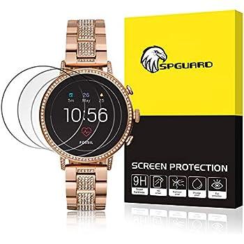 SPGuard Compatible Verre Trempé Fossil Q Gen 4 Venture [3 Paquet], 35mm Fossil Q Venture Protection,9H Premium Anti-Empreintes digitales/sans Bulles ...