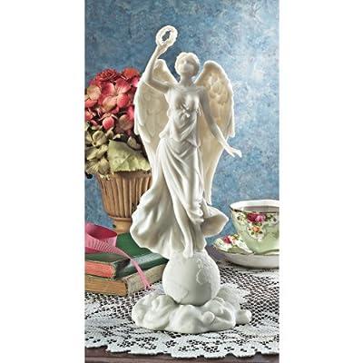Design Toscano WU74471 Friedensengel Marmor-Steinguss Statue von Design Toscano bei Du und dein Garten