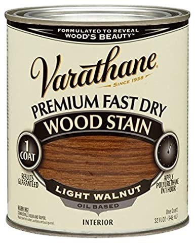 Rust-Oleum 262015 Varathane Fast Dry Wood Stain Quart, Light Walnut by Rust-Oleum