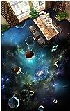 Malilove 3D-Pvc Bodenbeläge Custom Photo Wallpaper Wandaufkleber Die Sterne Des Universums Wohnzimmer 3D Wandbilder Tapeten Für Wände 3D300X210CM