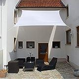 LUXUS terra Sen celinasun quadrilatero il classe 5 x 5 m Bianco paragioggia impermeabile di decorazione mondi